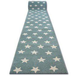 Runner SKETCH - FA68 turquoise/cream - Stars